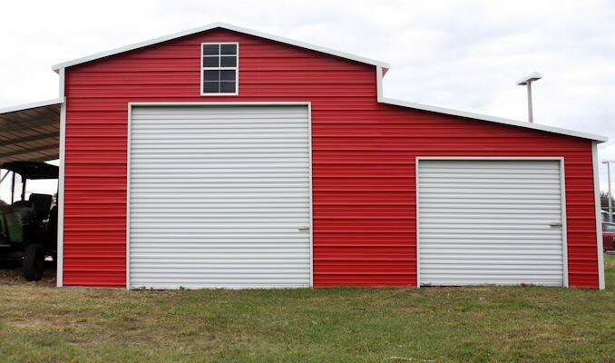 Barn with Tractor – Hometown Sheds